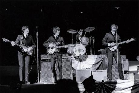 The Beatles played at the Boston Garden in 1964.
